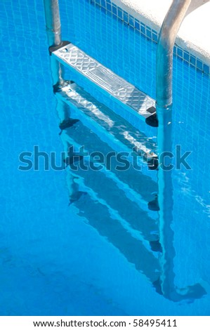 Pool ladder - stock photo