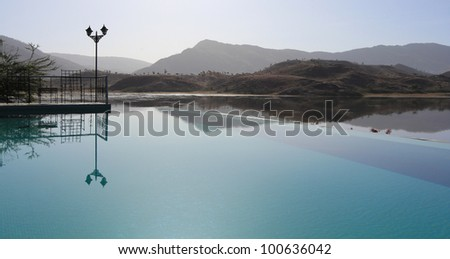 Pool Reflection - stock photo
