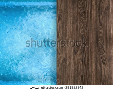 pool side view from above - stock photo