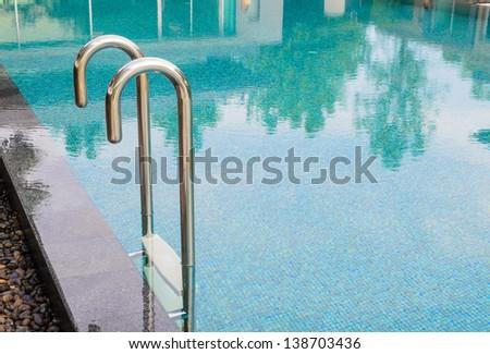 Pool Stairscase - stock photo