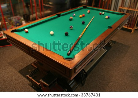 pool table - stock photo