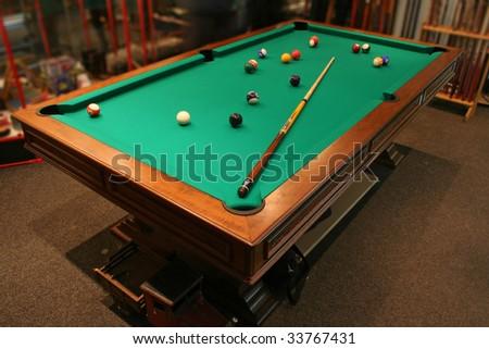 pool table - stock photo