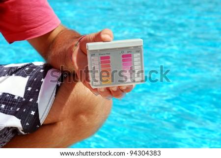 pool tester - stock photo