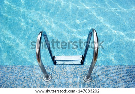 pool with sunny reflections - stock photo