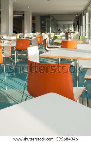 POOLE DORSET FEB 2017 Colourful Chairs In The Cafeteria At Poole Lighthouse