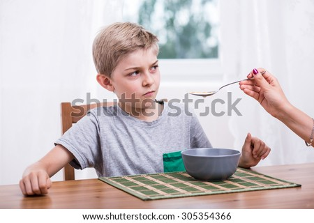 Poor eater refusing to eat milk with cereal