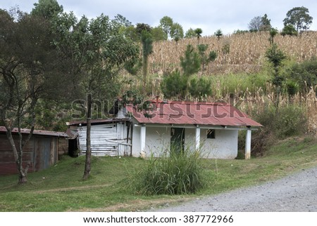 Poor house in Guatemala
