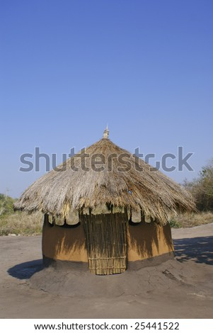 Poor house in Mozambique