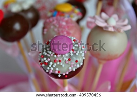 Pop Cake - Stock Image. - stock photo