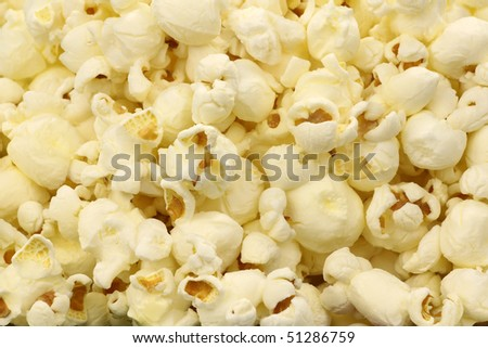 pop corn background - stock photo