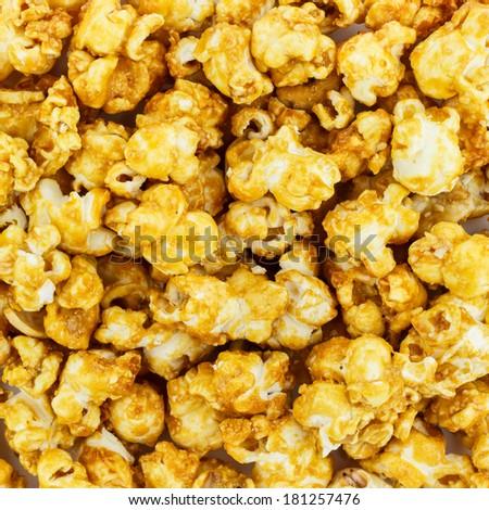 Pop corn maize useful as a food background, Macro closeup - stock photo