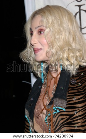Pop star CHER at the mtvICON gala honoring Aerosmith, at Sony Studios, Los Angeles. 14APR2002.