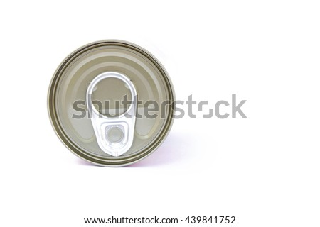 pop-top lid,Manufacturer of metal cans, easy-open lid, pull the ring to pull for beverage containers and cans containing chemicals. - stock photo