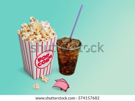 Popcorn. - stock photo