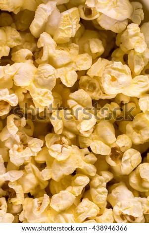 Popcorn background - stock photo