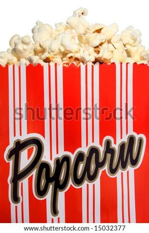 Popcorn bag close-up - stock photo