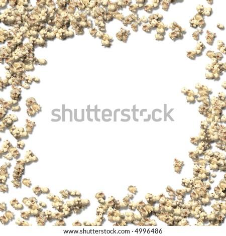 popcorn border - stock photo