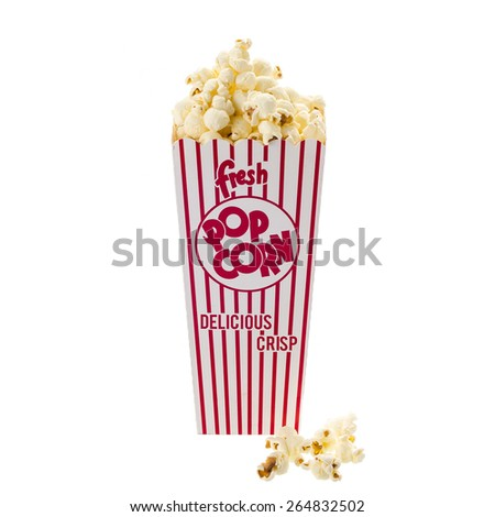 popcorn box isolated on white background