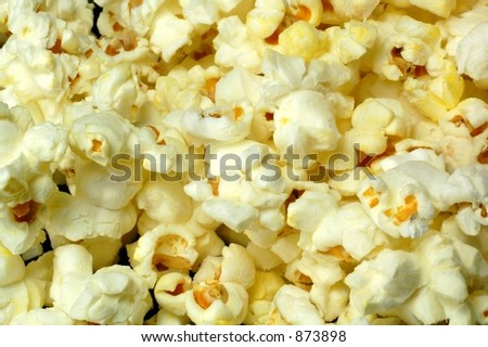 Popcorn close-up - stock photo