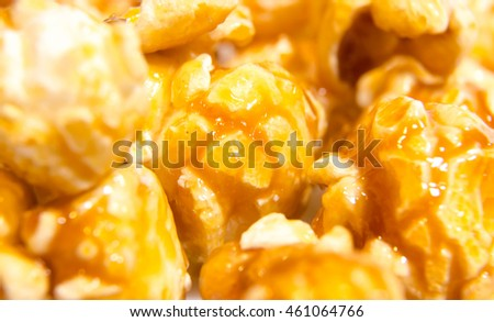 Popcorn close up in shallow depth of field