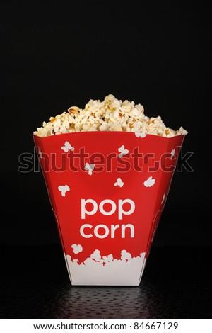 Popcorn flying high. - stock photo