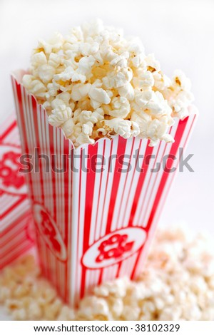 Popcorn in a bucket - stock photo