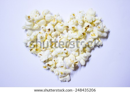 popcorn inlove - stock photo