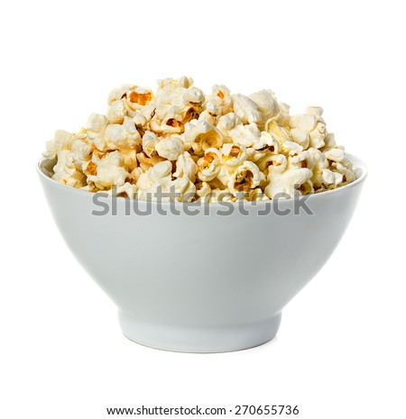 Popcorn isolated on a bowl  - stock photo