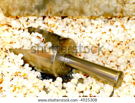 Popcorn machine (handle) - stock photo