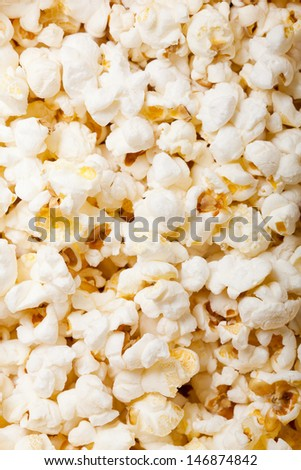 Popcorn texture background - stock photo