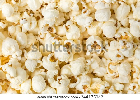 Popcorn texture background. - stock photo