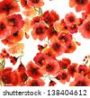 Poppies Seamless Pattern - stock vector