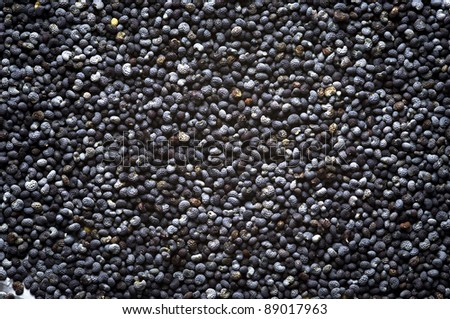 Poppy seeds background