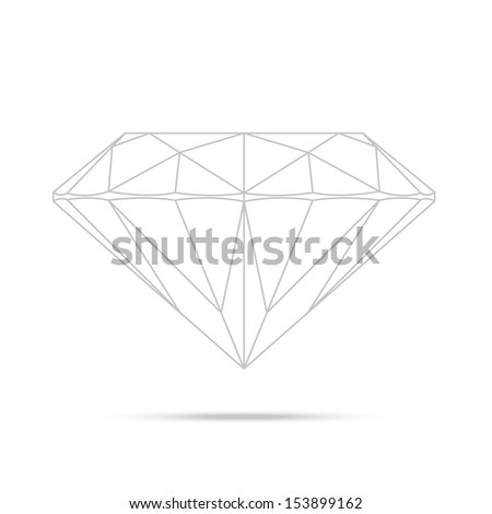popular drawing line template diamond isolated realistic high quality elements - stock photo