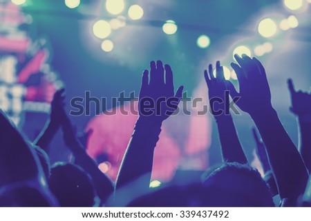 Popular Music Concert. - stock photo
