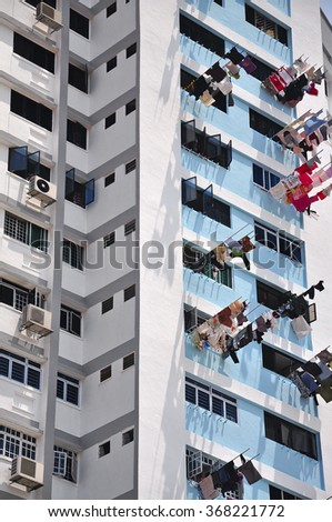Populous apartment building - stock photo
