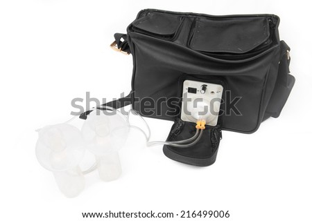 Poratable electric breast pump - stock photo