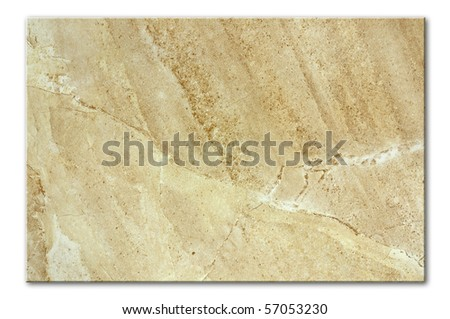 porcelain floor tile with natural marble effect - stock photo