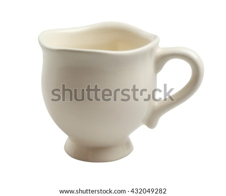 Porcelain Tea Cup on White Background - stock photo