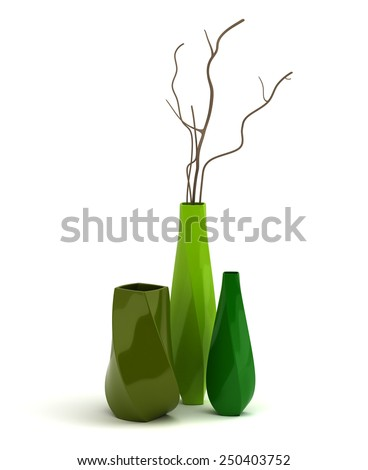 Porcelain Vases - stock photo