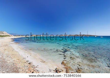 Pori beach of Koufonissi island in Cyclades, Greece