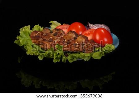 Pork barbecue - stock photo