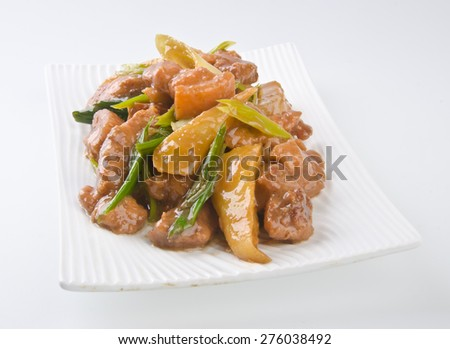 pork. chinese cuisine asia food - stock photo