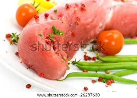 pork fillet-tenderloin , raw