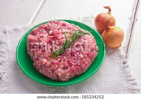 pork minced meat - stock photo
