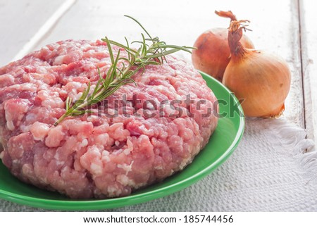 pork minced meat - stock photo
