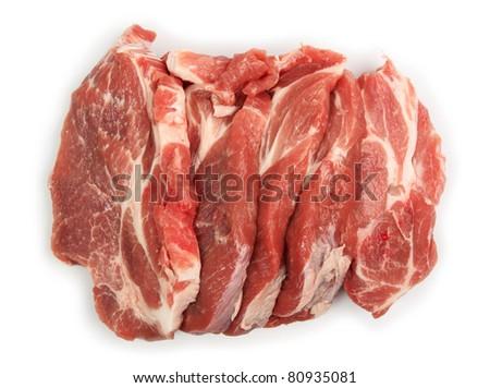 Pork Neck Chops - stock photo
