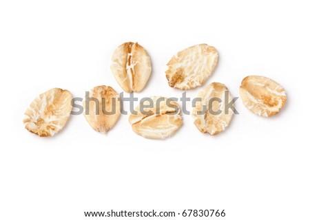Porridge Flakes macro - stock photo
