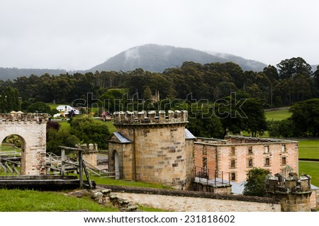 Port Arthur Convict Site - Tasmania - stock photo