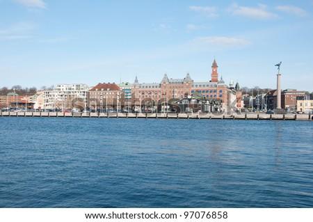 port city of sweden - stock photo